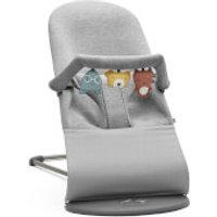 BABYBJORN Bouncer Bliss and Soft Friends Bouncer Toy - Light Grey