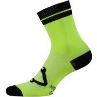 Nalini Lampo 2.0 Socks - S/M - Black/Fluro