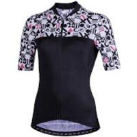 Nalini Moderna Women's Short Sleeve Jersey - M - Black/White