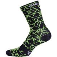 Nalini Saetta H19 Socks - L/XL - Black/Yellow/White