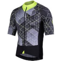 Nalini Stelvio Short Sleeve Jersey - L - Black/Yellow