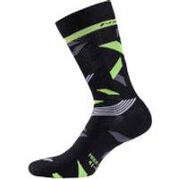 Nalini Tuono H22 Socks - L/XL - Black/Fluro/Grey