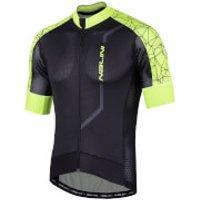 Nalini Velocita Short Sleeve Jersey - L - Black/Fluro
