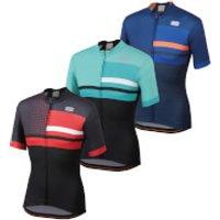Sportful Team 2.0 Drift Jersey - XL - Twilight Blue/Cosmic Blue/Orange SDR