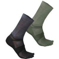 Sportful Giara 18 Socks - M-L - Dry Green