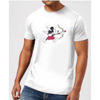Disney Mickey Cupid Mens T-Shirt - White - XXL - White