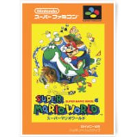 Nintendo Super Mario World Retro Cover Art Print - A3