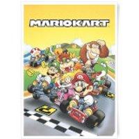 Nintendo Retro Mario Kart Art Print - A3 - Mario Gifts