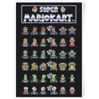 Nintendo Retro Racer Art Print - A4