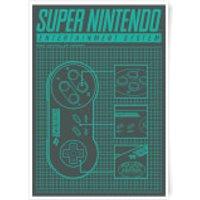 Nintendo SNES Controller Art Print - A4