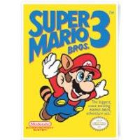 Nintendo Super Mario Bros 3 Art Print - A3 - Mario Gifts