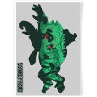 Nintendo Donkey Kong Jungle Silhouette Art Print - A4