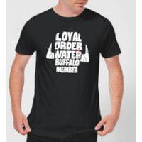 The Flintstones Loyal Order Of Water Buffalo Member Men's T-Shirt - Black - L - Black