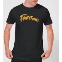 The Flintstones Logo Men's T-Shirt - Black - S - Black