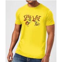 The Flintstones Club Life Men's T-Shirt - Yellow - XL - Yellow