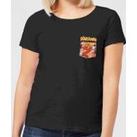 The Flintstones Pocket Pattern Women's T-Shirt - Black - XXL - Black