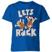 The Flintstones Let's Rock Kids' T-Shirt - Royal Blue - 9-10 Years - Royal Blue