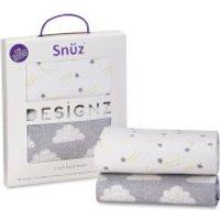 Snuz Bedside Crib 2 Pack Fitted Sheets - Cloud Nine