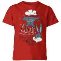 Looney Tunes ACME Anvil Kids' T-Shirt - Red - 3-4 Years - Red