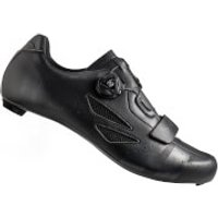 Lake CX218 Carbon Wide Fit Road Shoes - Black/Grey - EU 41