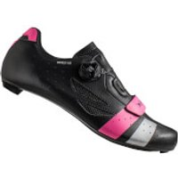 Lake CX218 Carbon Road Shoes - Black/Pink/Silver - EU 42