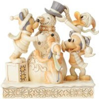 Disney Traditions Frosty Friendship (White Woodland Mickey and Friends) 15.0cm - Friendship Gifts