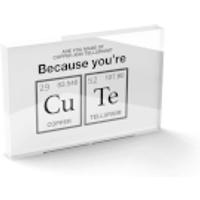 You're Cute Glass Block - 80mm x 60mm - Cute Gifts