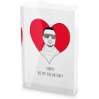 Kanye Be My Valentine? Glass Block - 80mm x 60mm - Valentines Day Gifts