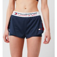 Tommy Hilfiger Sport Womens Shorts With Inner Tights - Sport Navy - XS - Blue
