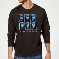 Game of Thrones Winter Is Here Faces Sweatshirt - Black - 5XL - Black - Game Of Thrones Gifts