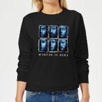 Game of Thrones Winter Is Here Faces Women's Sweatshirt - Black - 5XL - Black - Game Of Thrones Gifts