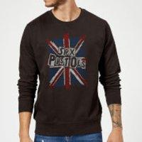 Sex Pistols Union Jack Sweatshirt - Black - 5XL - Black - Union Jack Gifts