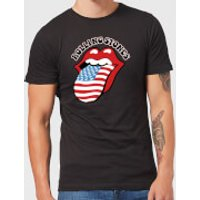 Rolling Stones US Flag Men's T-Shirt - Black - M - Black