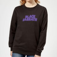 Black Sabbath Logo Women's Sweatshirt - Black - L - Black