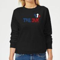 The Jam Text Logo Women's Sweatshirt - Black - 5XL - Black