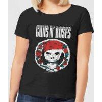Guns N Roses Circle Skull Women's T-Shirt - Black - L - Black