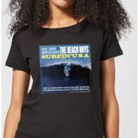 The Beach Boys Surfin USA Womens T-Shirt - Black - L - Black