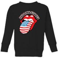 Rolling Stones US Flag Kids' Sweatshirt - Black - 3-4 Years - Black