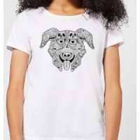 Mr Pickles Pattern Face Women's T-Shirt - White - XL - White
