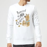 Scooby Doo Powered By Milk And Cookies Sweatshirt - White - XXL - White - Cookies Gifts