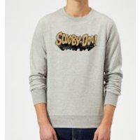 Scooby Doo Retro Colour Logo Sweatshirt - Grey - XXL - Grey