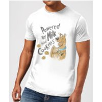 Scooby Doo Powered By Milk And Cookies Men's T-Shirt - White - XXL - White - Cookies Gifts