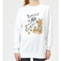 Scooby Doo Powered By Milk And Cookies Women's Sweatshirt - White - 5XL - White - Cookies Gifts