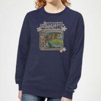 Scooby Doo Mystery Machine Psychedelic Women's Sweatshirt - Navy - S - Navy