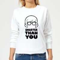 Scooby Doo Smarter Than You Women's Sweatshirt - White - S - White