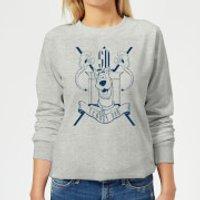 Scooby Doo Coat Of Arms Womens Sweatshirt - Grey - 5XL - Grey