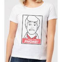 Scooby Doo Hold The Phone Women's T-Shirt - White - S - White