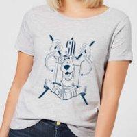 Scooby Doo Coat Of Arms Womens T-Shirt - Grey - XL - Grey