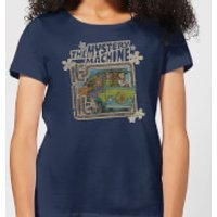 Scooby Doo Mystery Machine Psychedelic Women's T-Shirt - Navy - S - Navy