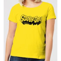 Scooby Doo Retro Mono Logo Women's T-Shirt - Yellow - L - Yellow